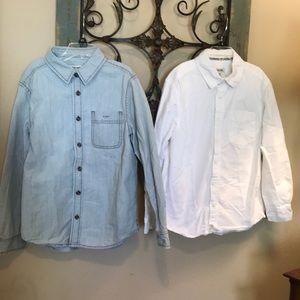 2 boys size 8/10 Cherokee long sleeve shirts